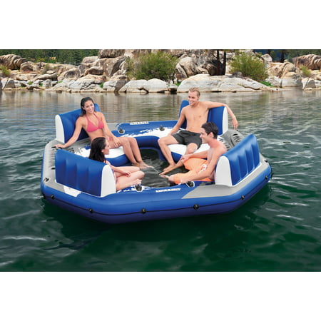 "Intex Inflatable Relaxation Station Island Floating Lounge, 120"" x 120"" x 26"""
