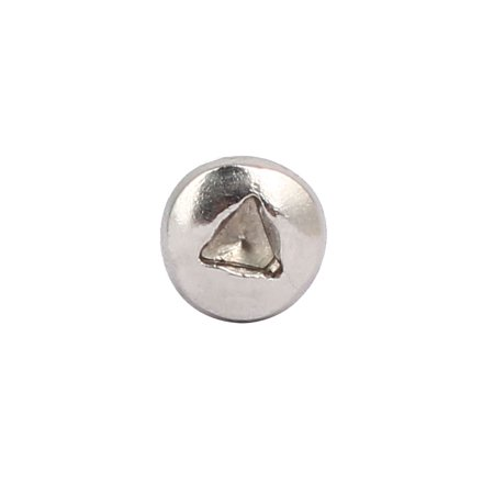 M3x6mm 304 Stainless Steel Triangle Scoket Pan Head Tamper Proof Screws 30pcs - image 2 de 3
