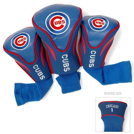 Chicago Cubs Golf Contour Sock Headcovers, 3-Pack