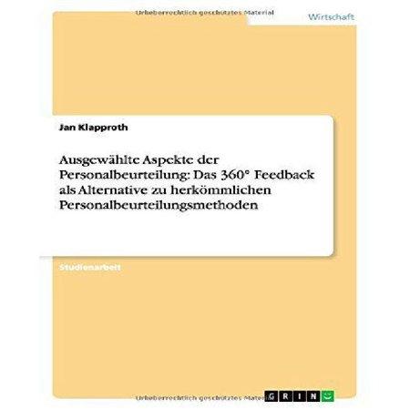 Ausgewahlte Aspekte Der Personalbeurteilung : Das 360 Feedback ALS ...