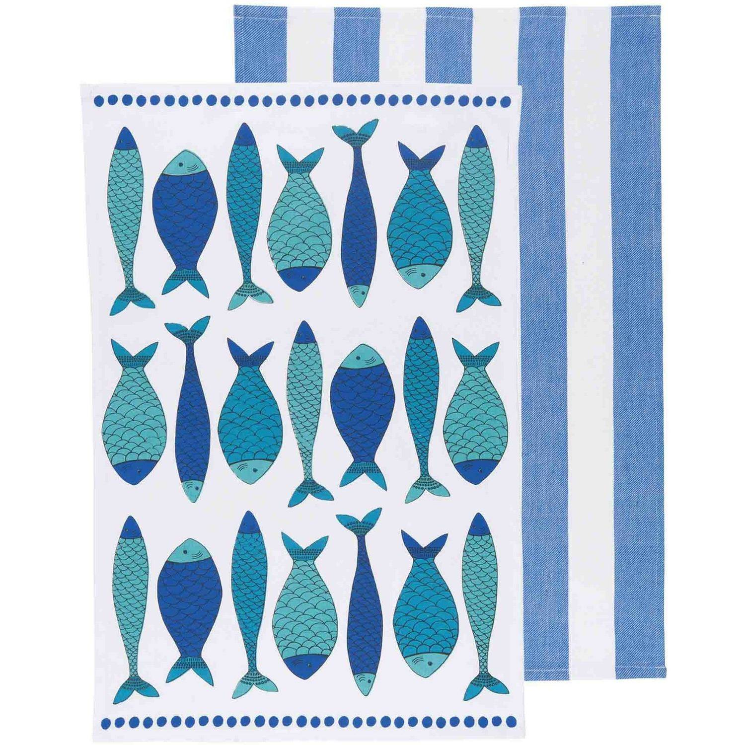 Now Designs Fish Market Kitchen Dishtowels