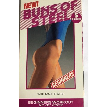 Steel Vhs - Buns of Steel 5 Beginners Workout VHS Video Tamilee Webb-TESTED-RARE-SHIPS N 24H