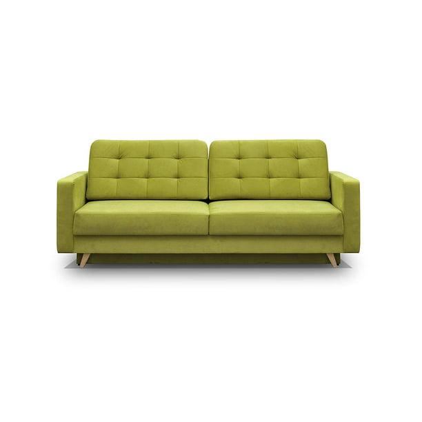 Vegas Futon Sofa Bed, Queen Sleeper with Storage, Green ...