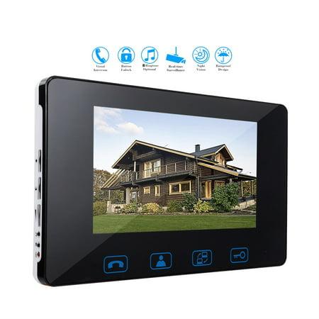 Video Doorphone 2 Wires Video Intercom System 7 Inch Color Indoor