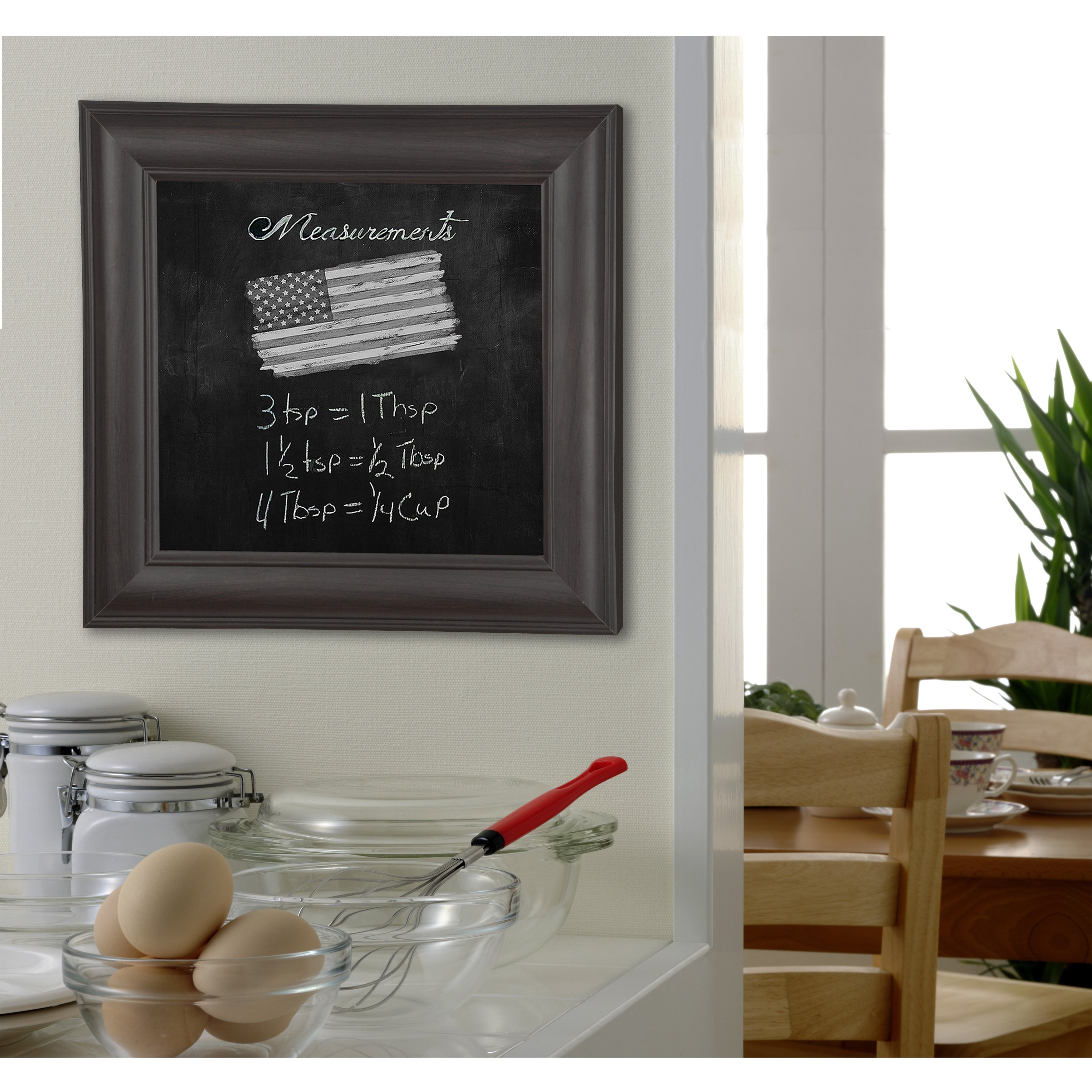 Rayne Mirrors American Made Rayne Brazilian Walnut Blackboard/Chalkboard