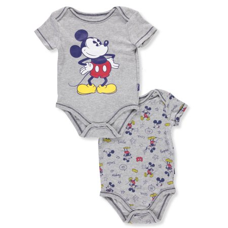 Disney Mickey Mouse Baby Boys' 2-Pack Bodysuits](Mickey Mouse Baby)