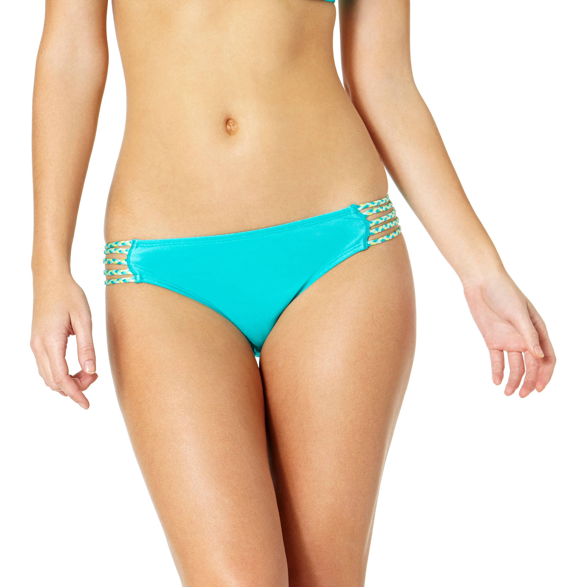 Tahiti Women's Braided Strappy Scoop Bikini Swimsuit Bottom
