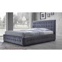 Atlin Designs Upholstered Queen Platform Bed in Gray