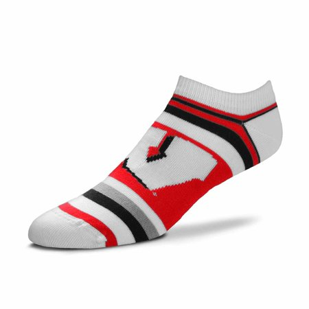 Wisconsin Badgers Ncaa Stripes - Wisconsin Badgers Adult NCAA Lotta Stripe Socks - Team Color