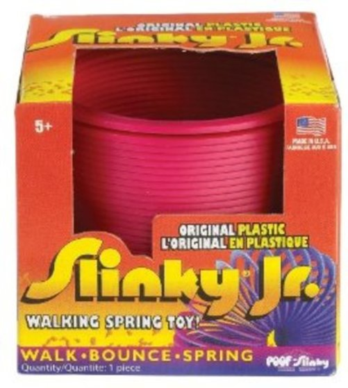 POOF-Slinky Model #115 Plastic Original Slinky Jr. in Box, Single Item, Assorted Colors Multi-Colored