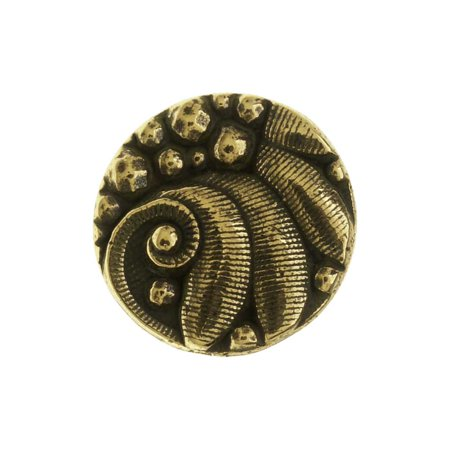 TierraCast Pewter Button, Round Czech Design, 12mm Diameter, 1 Piece, Brass Oxide
