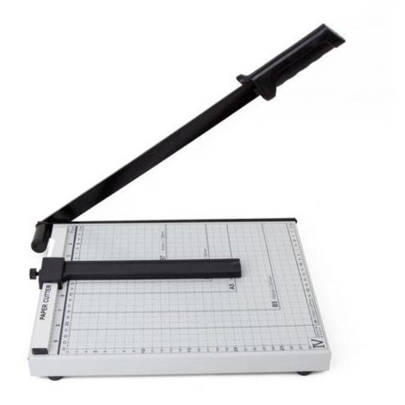 "Zimtown A3/B4/A4 Guillotine Paper Cutter, Adjustable 18""/15""/12"" Precise Desktop Manual Paper Cutter Trimmer, 15/12/10 Sheets Capacity, Heavy Duty Steel Base"