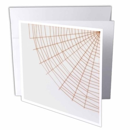 3dRose Corner Spider Web- Halloween Art, Greeting Cards, 6 x 6 inches, set of 6 (Corner Brewery Halloween)