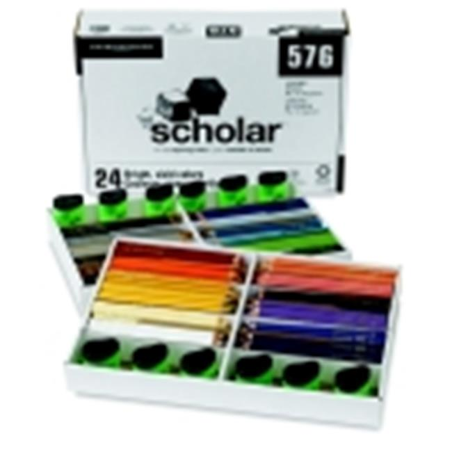 Prismacolor Scholar Non-Toxic Smooth Colored Pencil Classroom Set With 12 Sharpener, Assorted Color, Set - 576