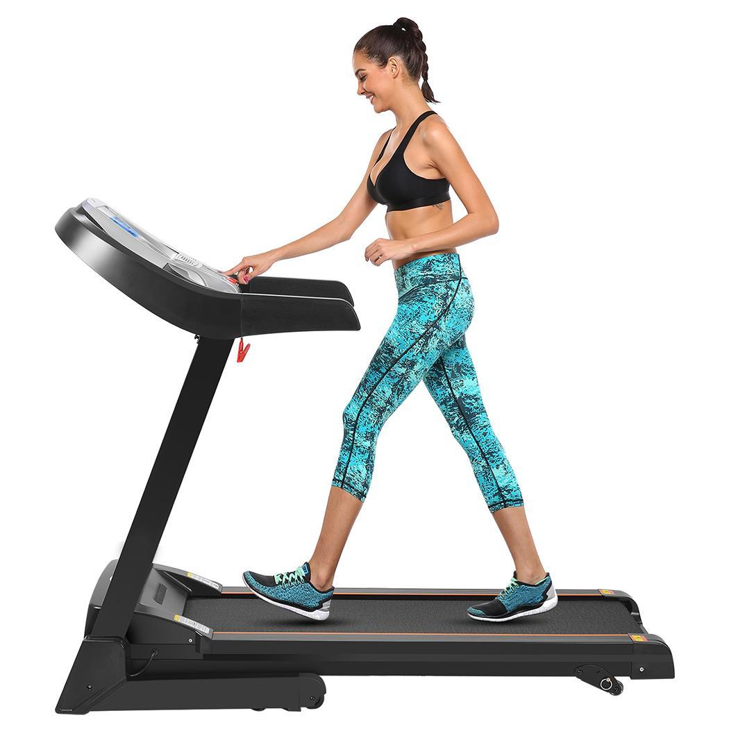 Clearance Elecmall 2.25hp Electric Folding Treadmill  Commercial Health Fitness Training Equipment Elec
