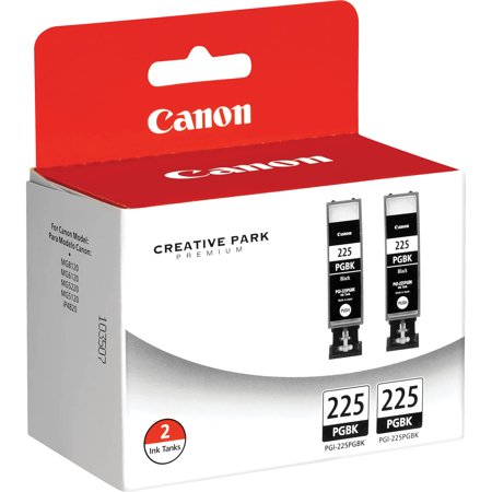 Canon, CNMPGI225BK2PK, PGI225BK2PK Ink Cartridge, 2 / (Canon Pgi 225 Black Twin Pack Ink Cartridge)