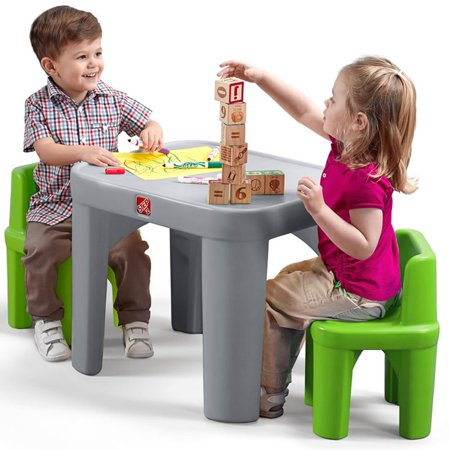 Step2 Mighty My Size Kids Plastic Table and Chairs Set
