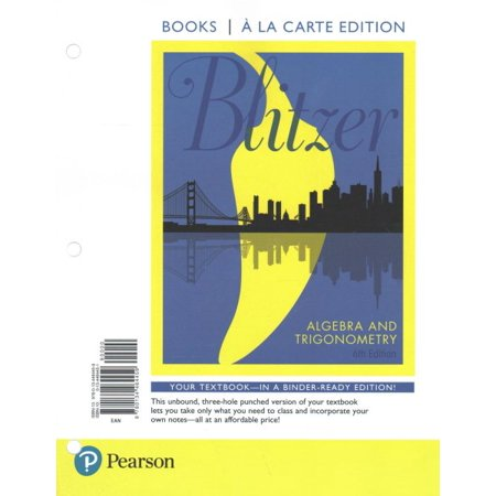 Algebra and Trigonometry with Integrated Review, Books a la Carte Edition, Plus Mylab Math with Pearson Etext and Worksheets -- Access Card Package