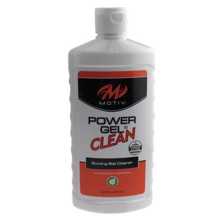 Motiv Power Gel Clean Bowling Ball Cleaner, 16 oz. Bottle (Bowling Ball Cleaning Wipes)