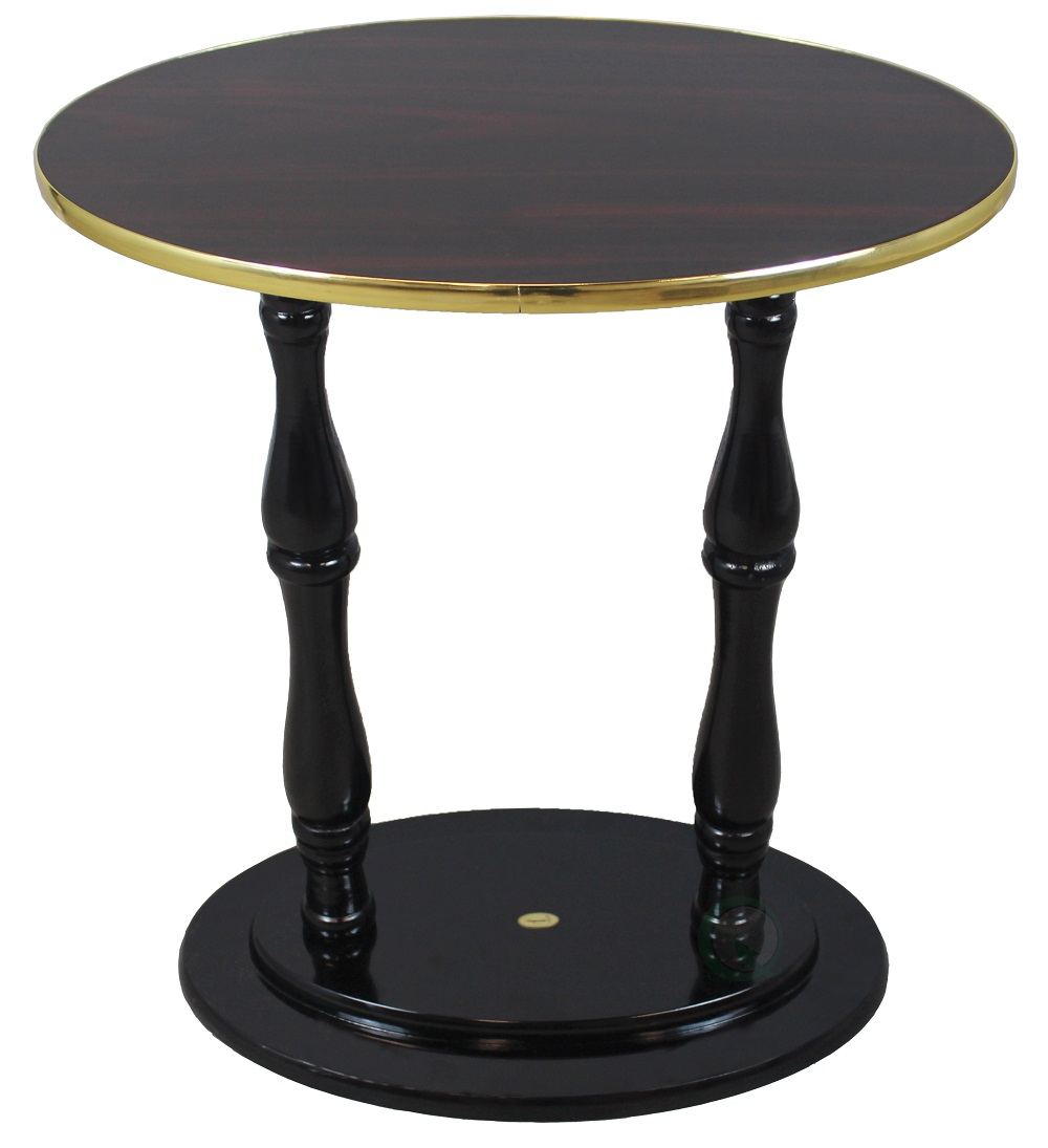 """Oval Accent Side End Table, Espresso Brown Finish"""