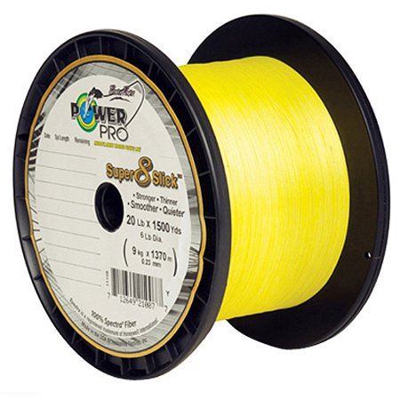 Power Pro Powerpro Super 8 Slick Braided Line 150 Yards 10 Lbs Tested 0 006 Quot Diameter Hi Vis