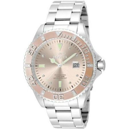 17309 47mm Pro Diver Quartz Diamond Accented Stainless Bracelet Watch (Sonnenbrillen, 47mm)