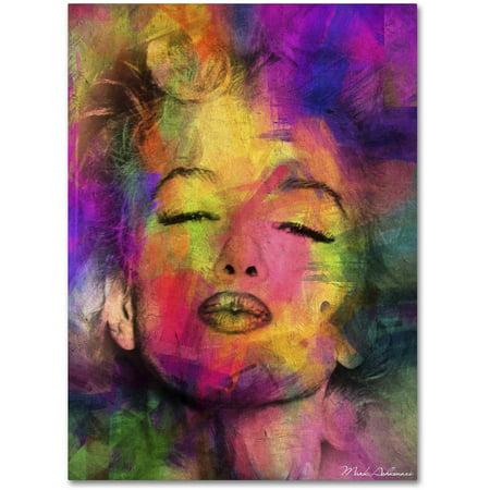 "Trademark Fine Art ""Marilyn Monroe VI"" Canvas Art by Mark Ashkenazi"