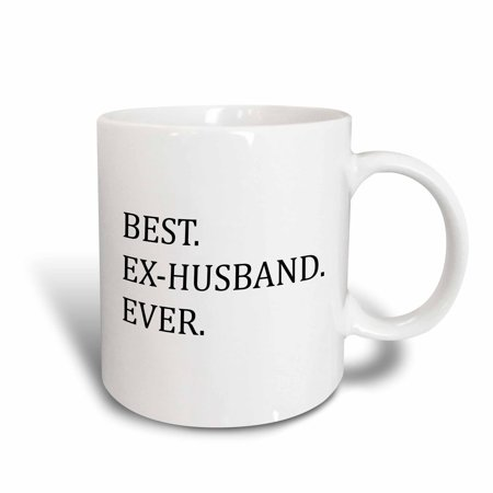 3dRose Best Ex-Husband Ever - Funny gifts for your ex - Good Term Exes - humorous humor fun, Ceramic Mug,