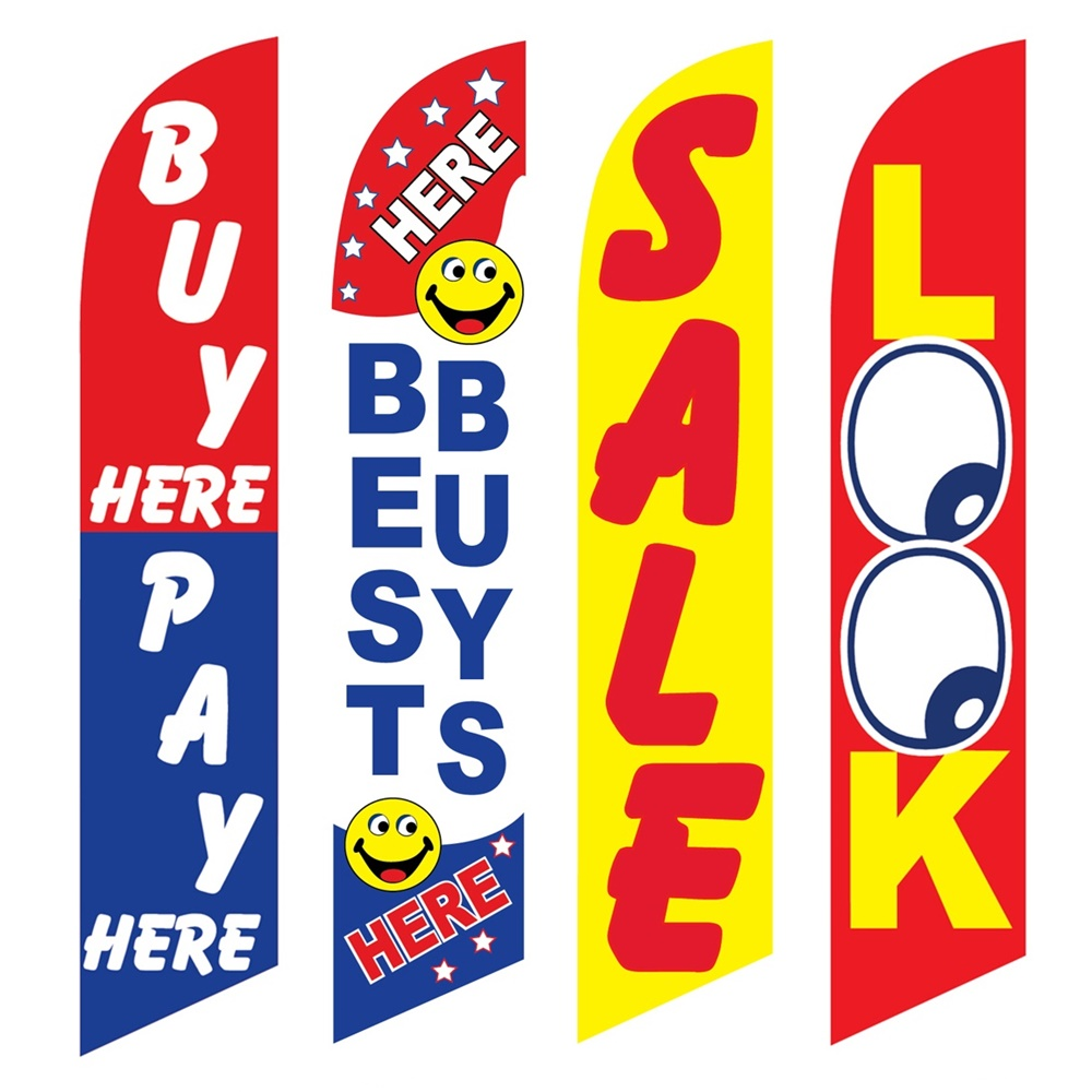 4 Advertising Swooper Flags Buy Pay Here Best Buys Sale Look