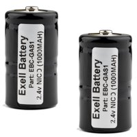 2pk 2.4V Gas Meter Battery for TIF 8800 Combustible Gas Detector FAST USA SHIP