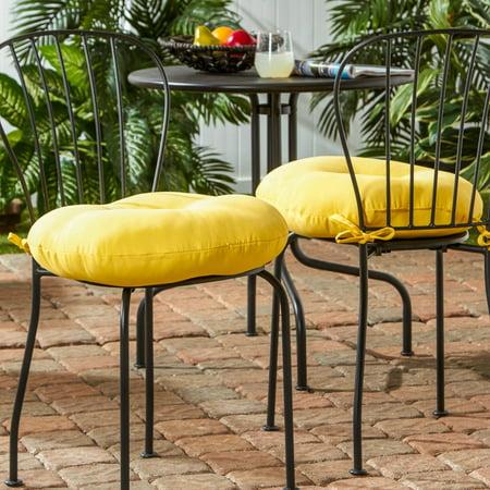 Greendale Home Fashions 18 Inch Round Outdoor Sunbeam Bistro Chair