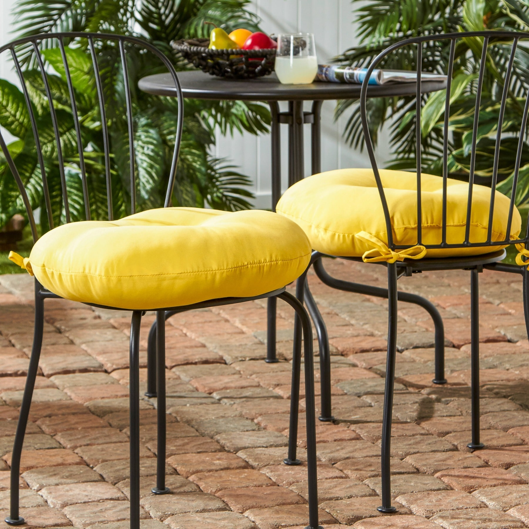 Charmant Greendale Home Fashions 18 Inch Round Outdoor Sunbeam Bistro Chair Cushion  (Set Of 2