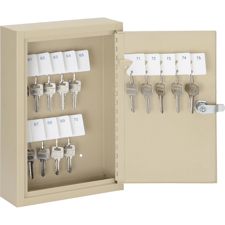 Key Cabinet, 30 Keys, 8x2-1/2x12-1/8, Sand, Lot of 1