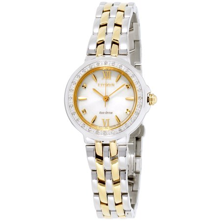Ladies Stainless Steel and Diamond Eco Drive Two Tone (Ladies Two Tone Eco Drive)