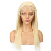 Noble 613 Blonde 13x4 Lace Front Wig With Baby Hair Remy Brazilian Straight Human Hair 613 Frontal Wigs 14-18 Inch 150% Density