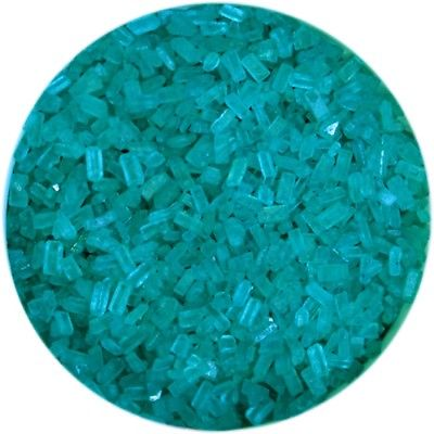 Teal Sugar Crystals 4 oz - National Cake Supply