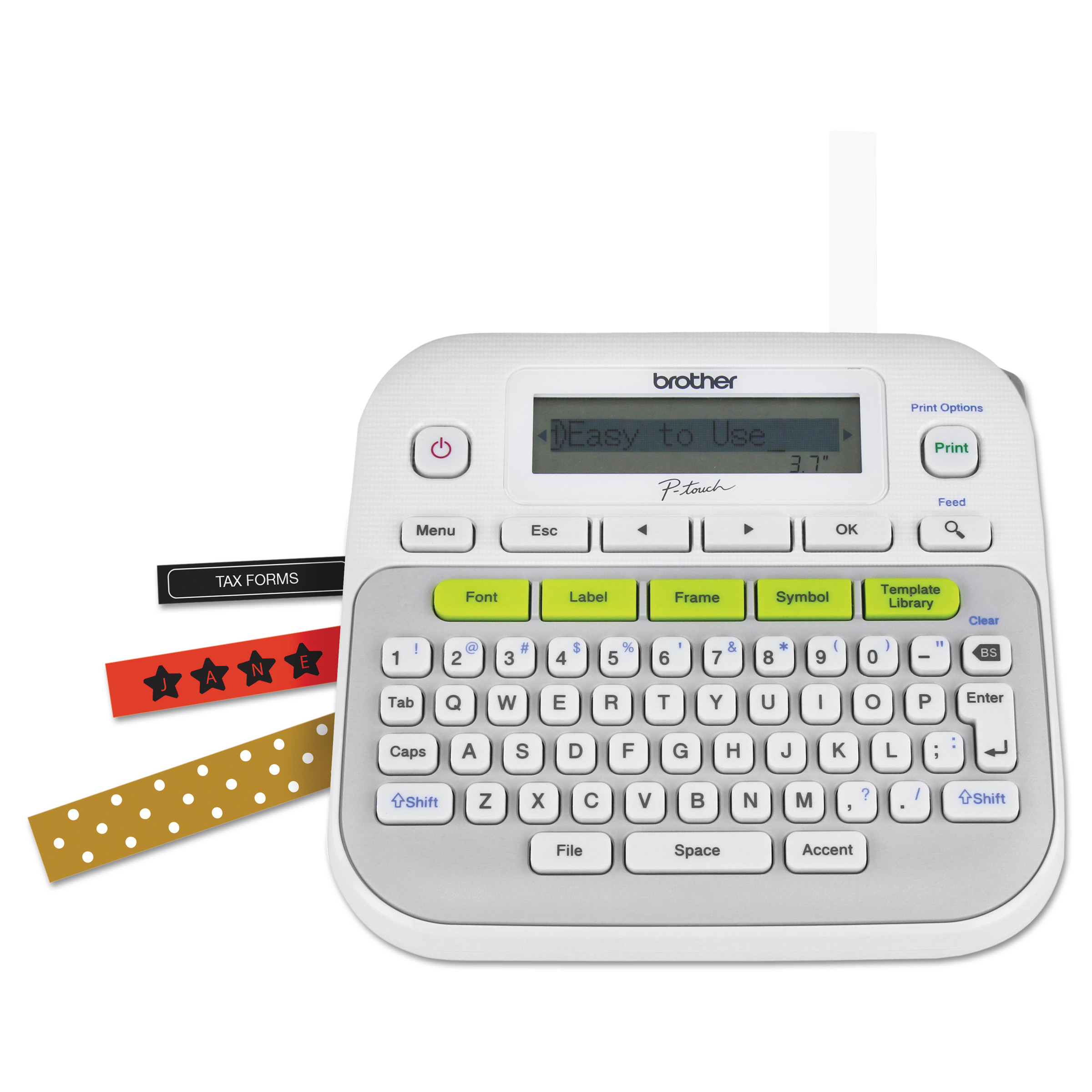 Label makers walmart brother p touch pt d210 easy compact label maker 2 lines stopboris Gallery