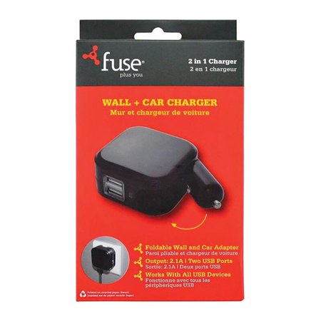 fuse plus you 3839545 fone gear fuse usb car wall. Black Bedroom Furniture Sets. Home Design Ideas