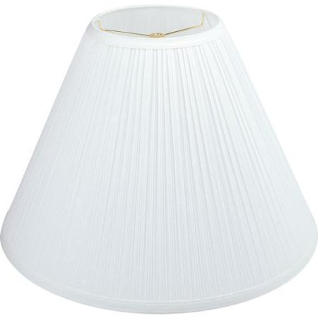 Round Mushroom Pleated Lamp Shade 6 1 4 X 11 9 White