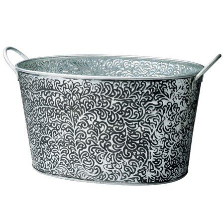 One Allium Way Hence Antiqued Vine Relief Oval Party Tub