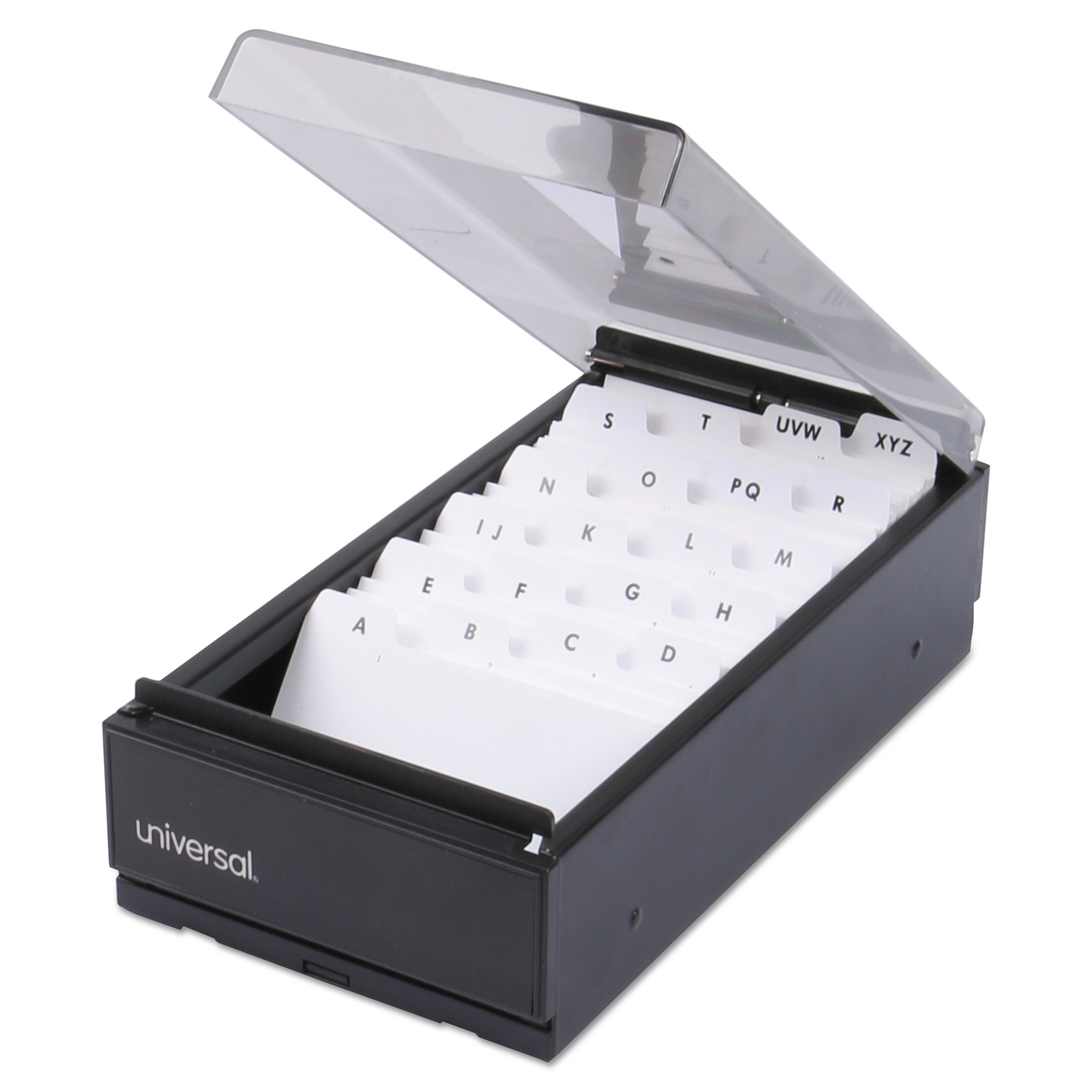 business card file box