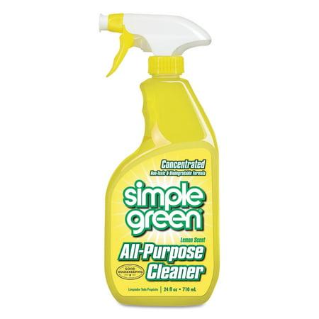 - Simple Green Lemon Scent Industrial Cleaner & Degreaser, 24 fl oz