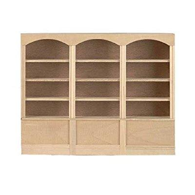 Houseworks dollhouse miniature three-unit bookcase