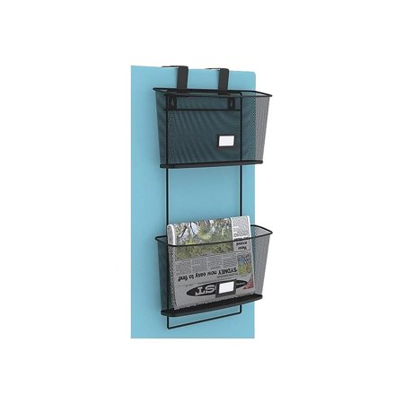 Staples 2 Pocket Metal Wall File Black 25482 293500