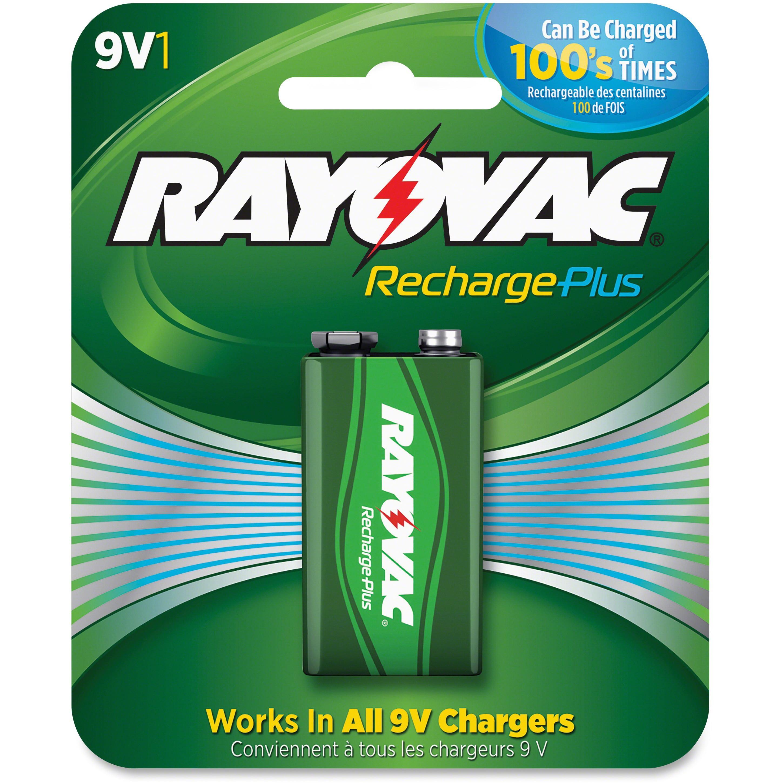 Rayovac, RAYPL16041GEN, Recharge Plus 9-volt Battery, 1 Each