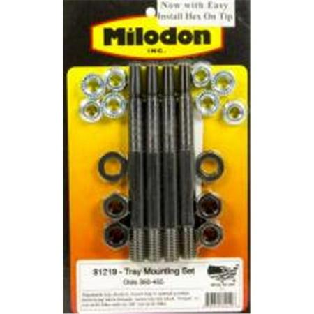 Milodon 81219 Black Oxide Steel Windage Tray Stud Kit for Oldsmobile V8 - image 1 de 1