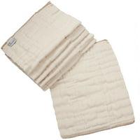 OsoCozy 6 Piece Organic Cotton Prefolds -Infant 4x8x4 (7-15 lbs)