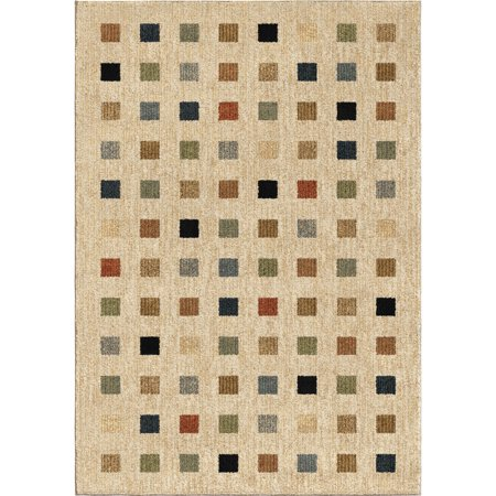 Orian Next Generation Area Rugs 4420 Transitional Casual Beige Blocks Cubes Bo Squares Rug