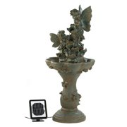 Zingz & Thingz Polyresin Solar Fairy Friends Water Fountain with Light