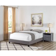 Colton Faux Leather Upholstered Bed, Multiple Sizes and Colors